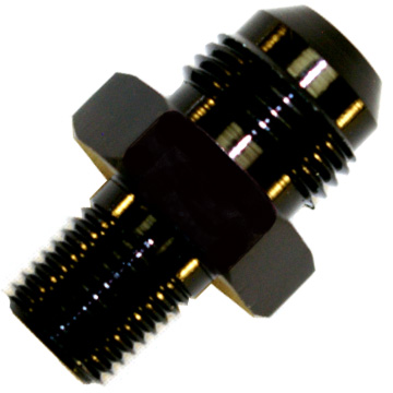 AN to NPT Adaptor, -4 AN to 1/8'' NPT Black